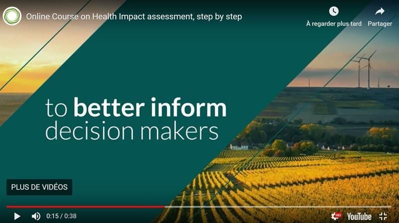 Online Course – Health Impact Assessment, step by step Image 1